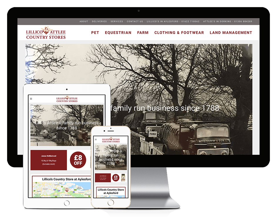 lillico and attlee website design in kent by storm